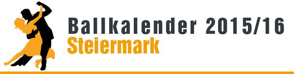 Ballkalender 2015/16 Steiermark